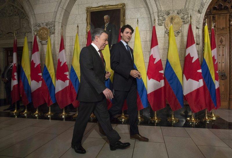 Juan Manuel Santos Justin Trudeau