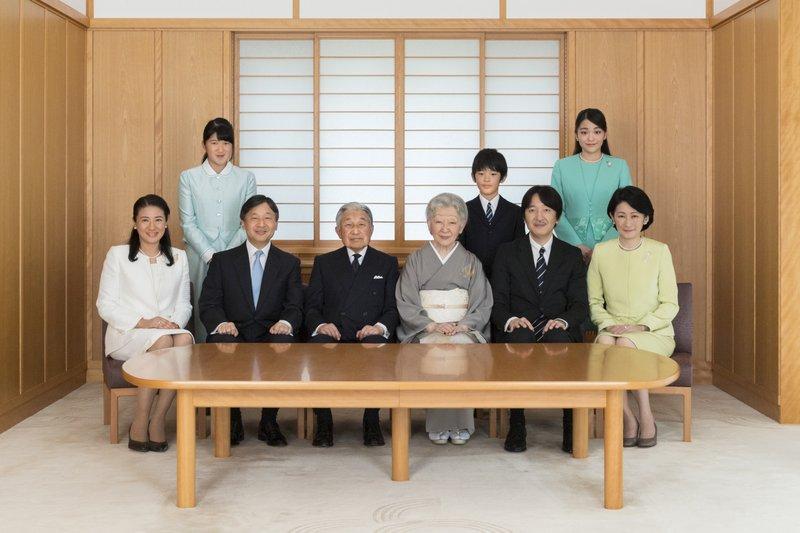 Naruhito, Akihito, Masako, Akishino, Kiko, Aiko, Mako, Hisahito, Michiko