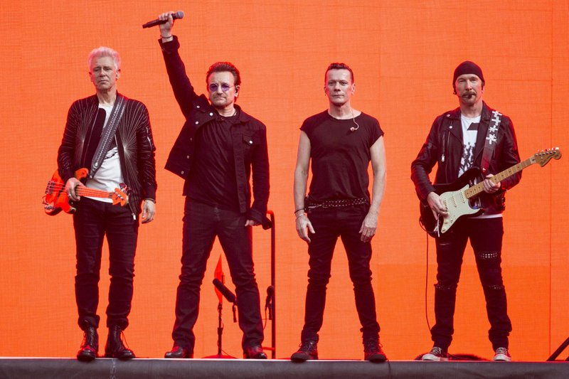 U2, Bono, The Edge, Adam Clayton, Larry Mullan Jnr