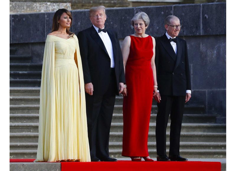 Donald Trump, Melania Trump, Theresa May, Philip May