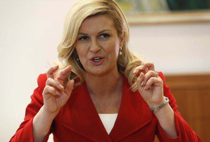 AP Interview: Croatian leader says Trump, Putin key to peace