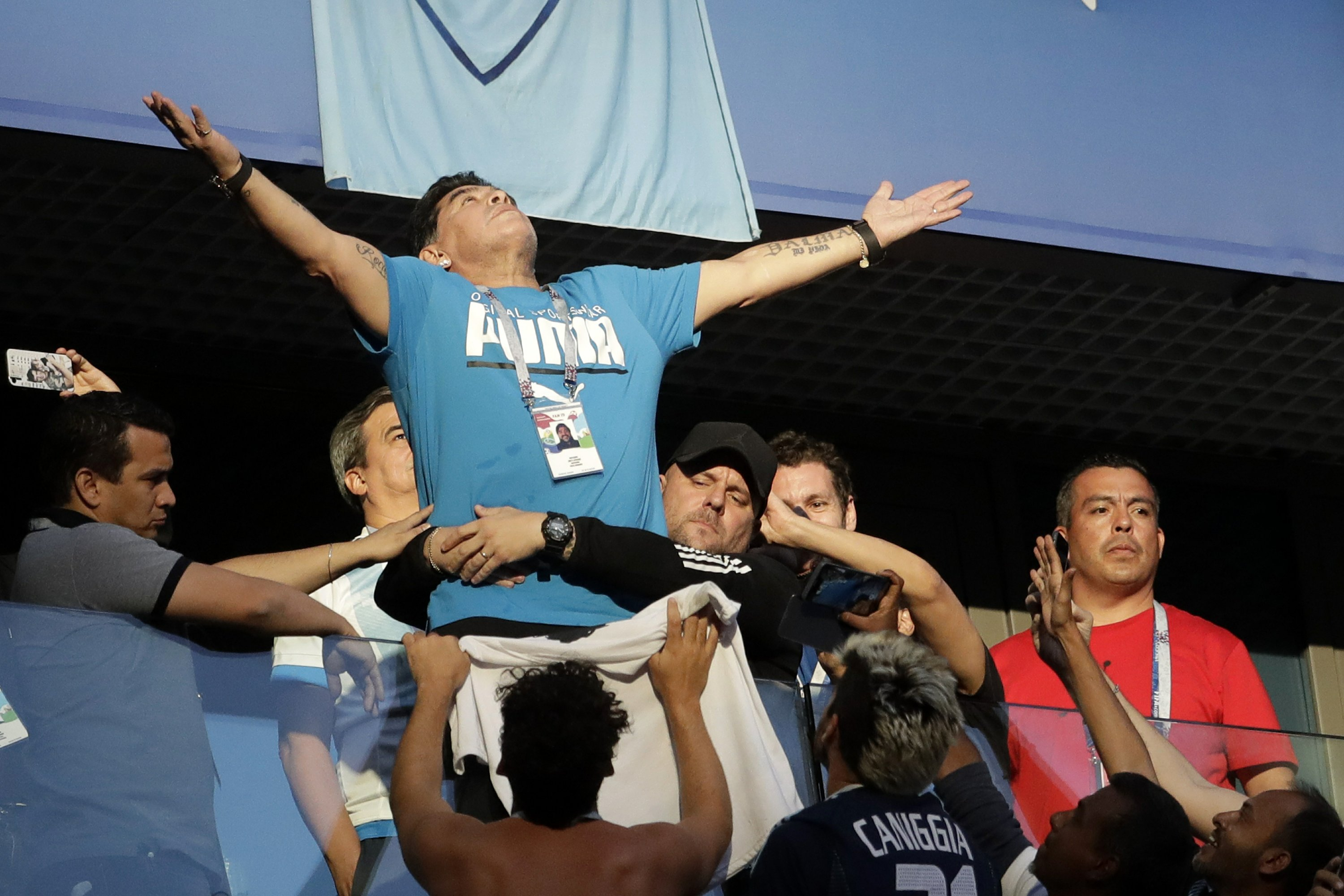 Diego Maradona Is Argentina S Biggest Fan And Distraction