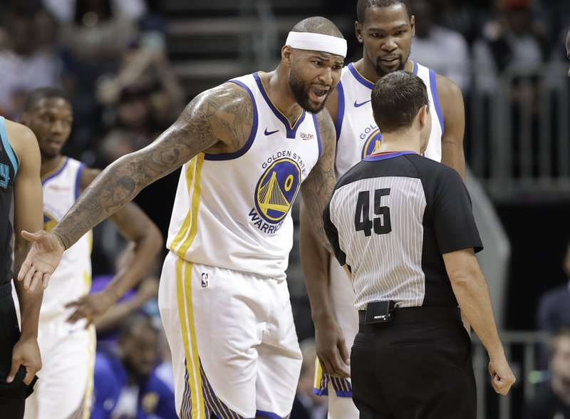 new styles 86c25 3f7ec Cousins T'd for shoe toss, scores 24 as Warriors top Hornets