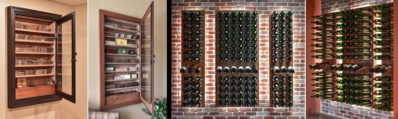 Vigilant Introduces Stylish Space Saving Wine Wall & Built-In Wall Humidor