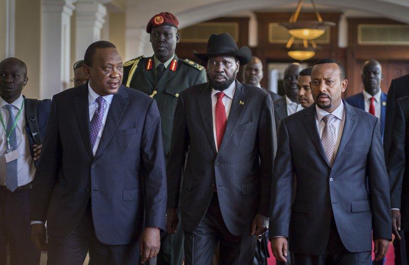 Salva Kiir, Uhuru Kenyatta, Abiy Ahmed