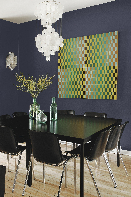 Glidden Smoky Charcoal this fall, decor's deep, rich hues are bolder