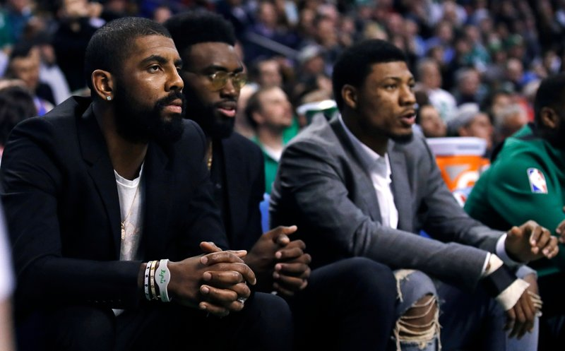 Kyrie Irving, Jaylen Brown, Marcus Smart