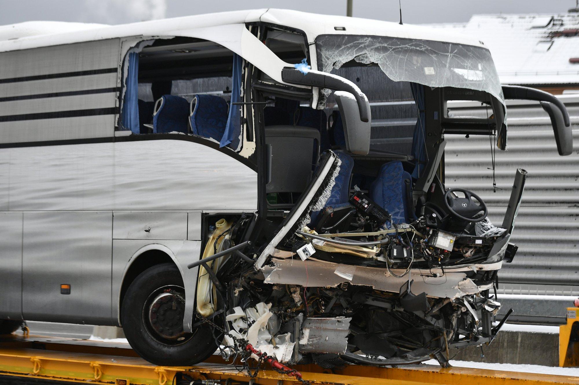 1 dead, 44 injured in Switzerland bus crash