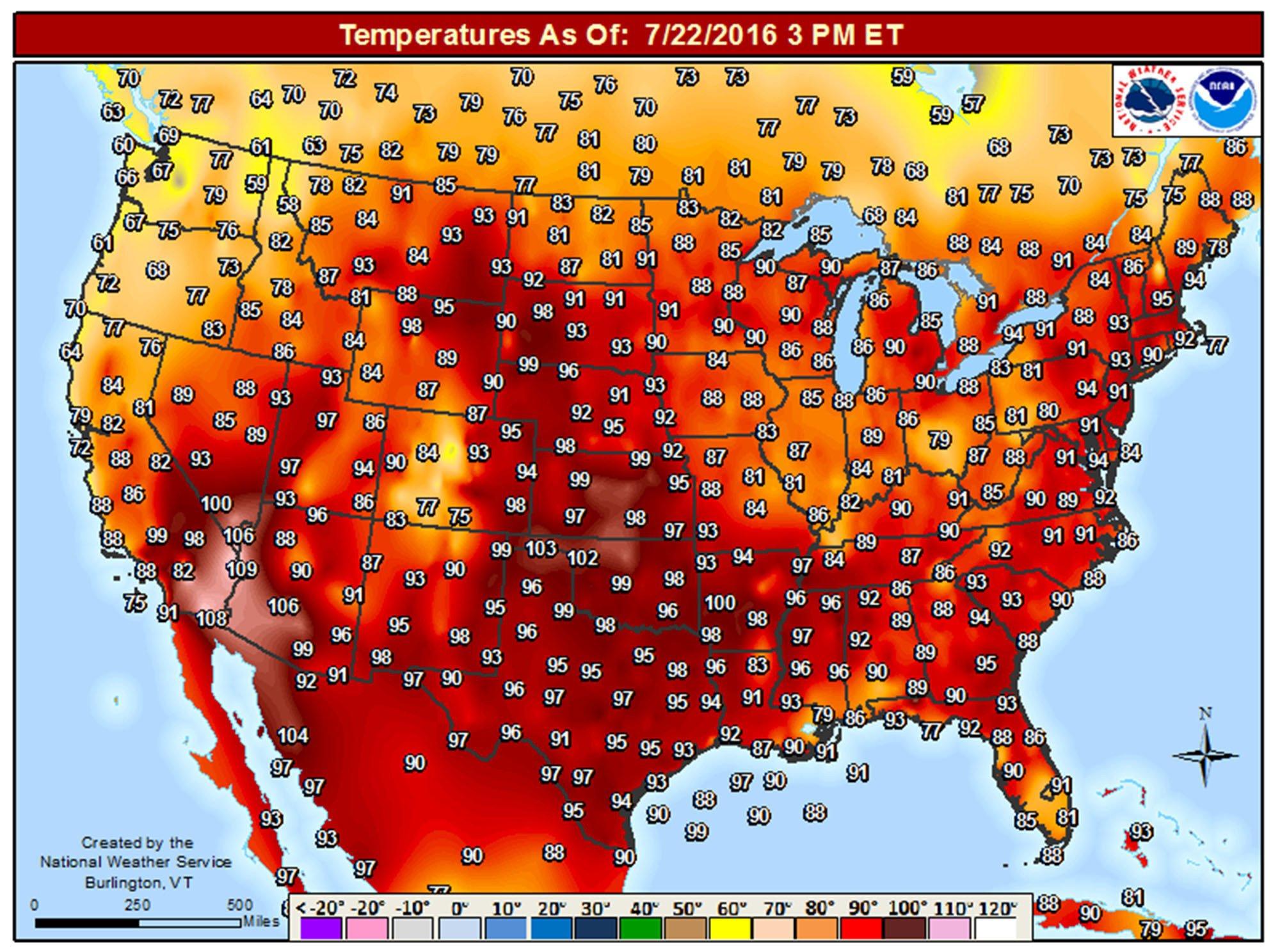 DIVIDED AMERICA: Temperatures rise, US splits