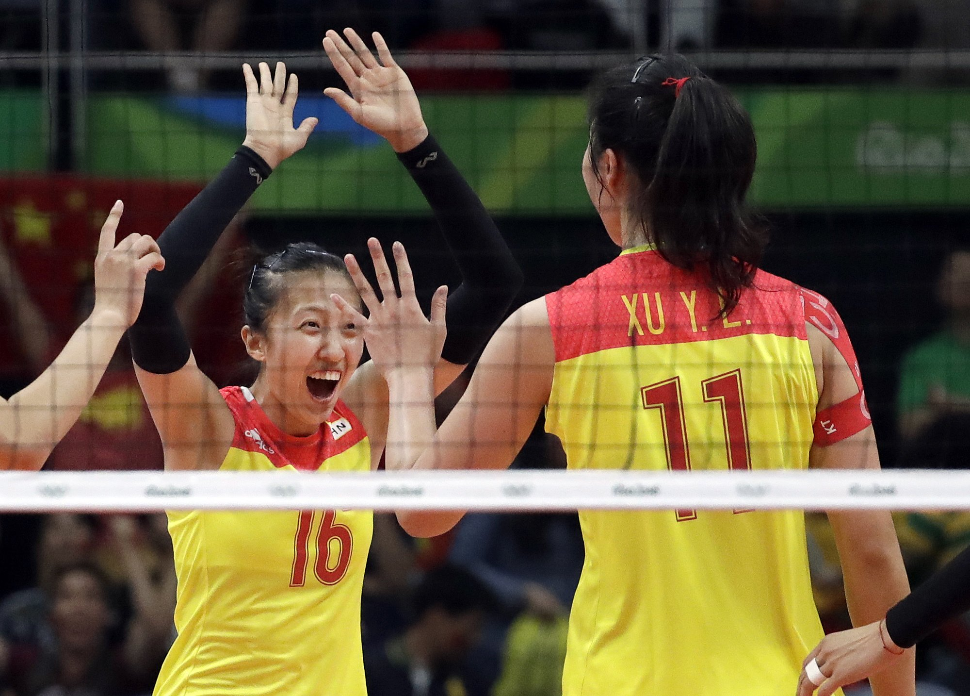 The Latest: China defeats Serbia for women's volleyball gold