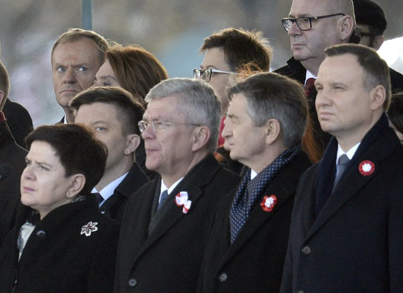 Donald Tusk, Beata Szydlo, Stanislaw Karczewski, Marek Kuchcinski, Andrzej Duda