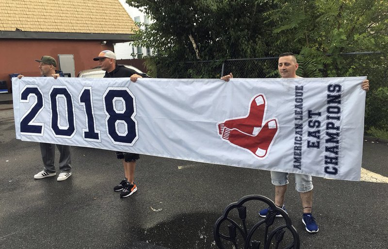 Too soon? Red Sox fans find AL East banner