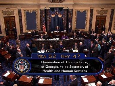 Senate Approves Tom Price for HHS Secretary
