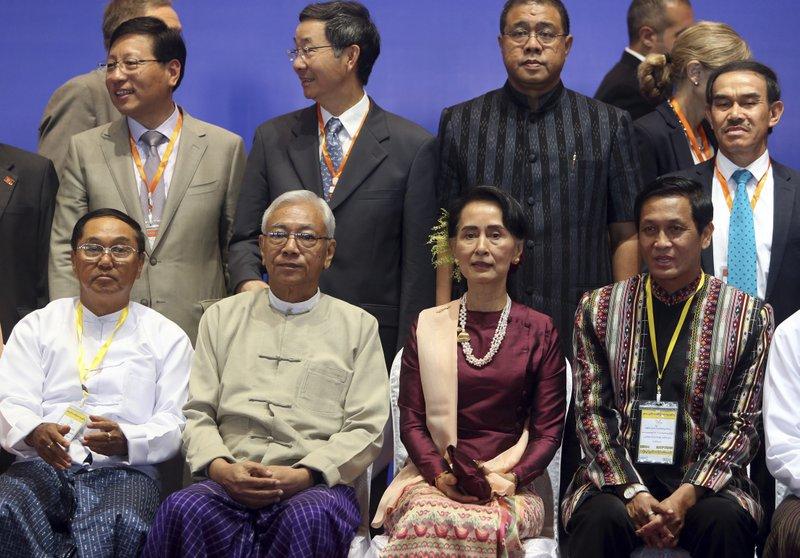 Htin Kyaw, Aung San Suu Kyi, Henry Van Hti Yu, Myint Swe