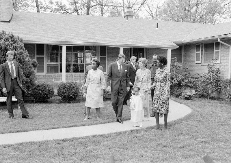 Ronald Reagan, Nancy Reagan, Barbara Butler, Phillip Butler, Natasha Butler