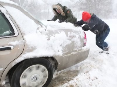 Northeast Residents Digging  Out After Storm