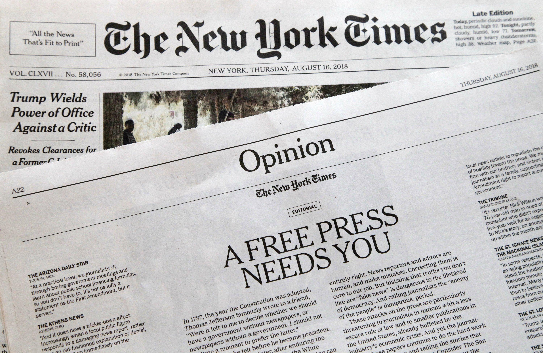 skim through a newspaper