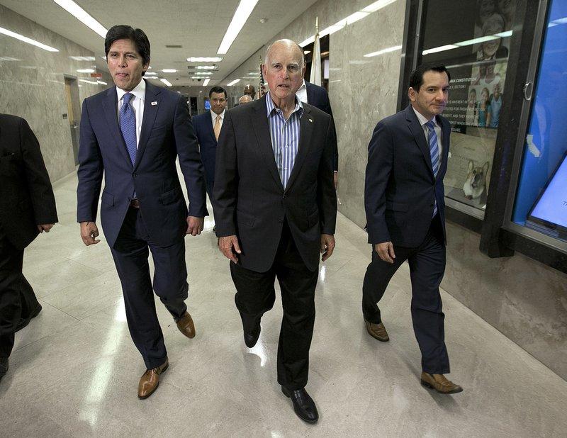 Kevin de Leon, Jerry Brown, Anthony Rendon