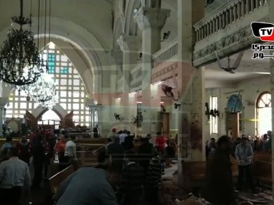 Raw: Bomb Explodes in Egypt Church, Over 20 Dead
