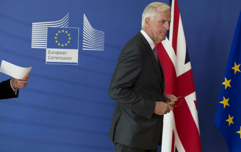 Britain looking to push Brexit talks with EU onto trade