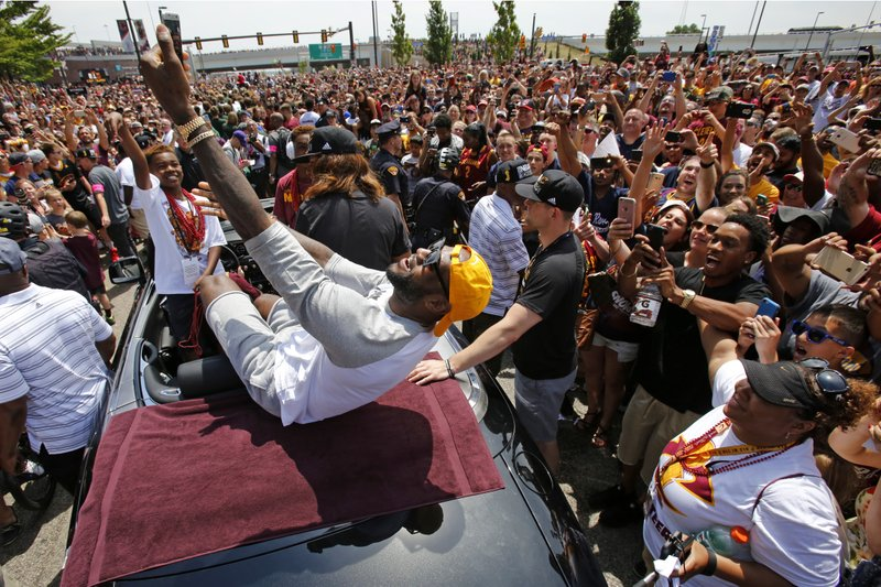 5f0239511 The Latest  1 person shot after Cavs victory celebration