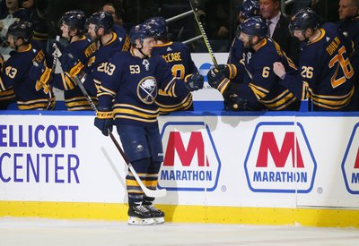 4402446a96b BUFFALO, N.Y. (AP) — With star forward Jack Eichel missing his third  straight game due to injury, the Buffalo Sabres got the secondary scoring  they were ...