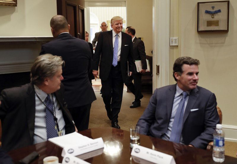 Donald Trump, Steve Bannon, Kevin Plank