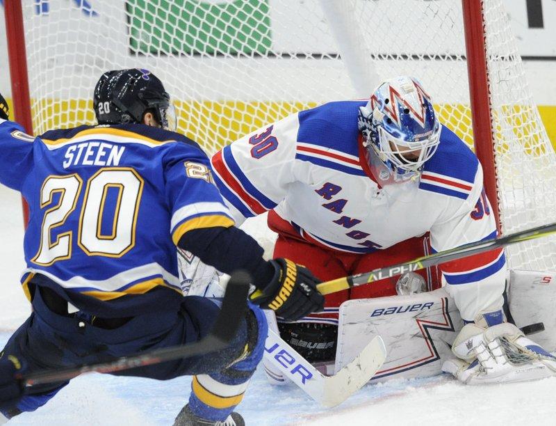 Lundqvist Makes 39 Saves Rangers Beat Blues 2 1