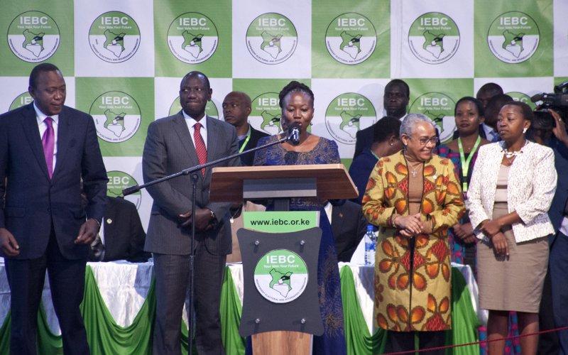 Roselyn Akombe, Uhuru Kenyatta, William Ruto, Margaret Kenyatta