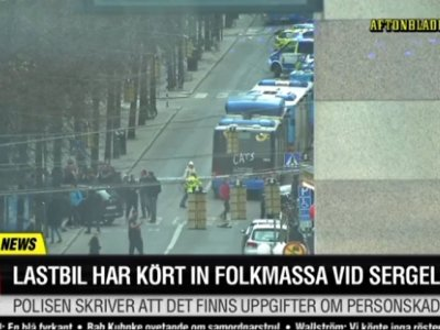Raw: Deadly Truck Crash Into Stockholm Store