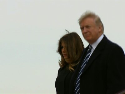 Raw: President Trump Arrives in China