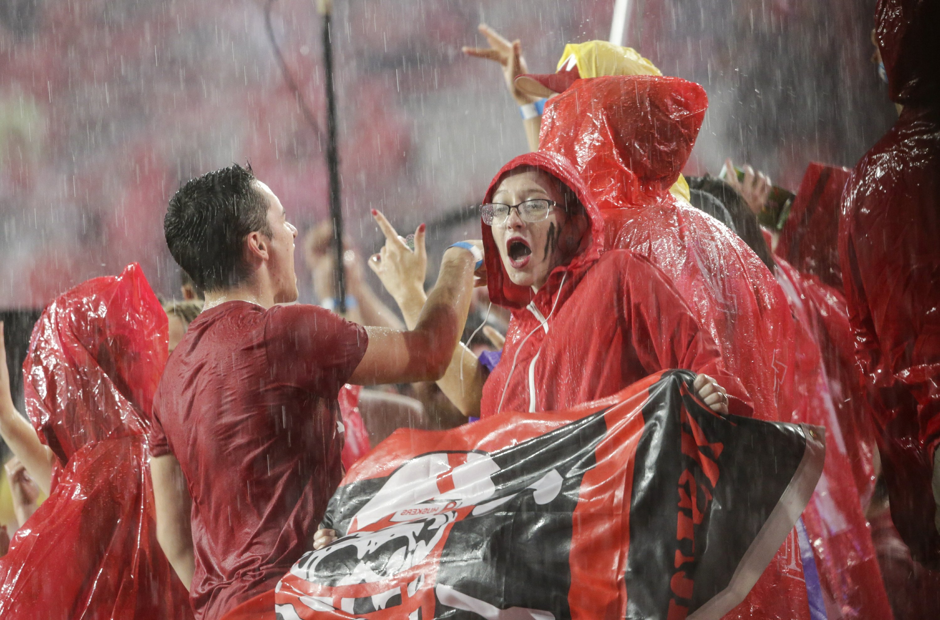 Weather woes hit college football, stadiums cleared