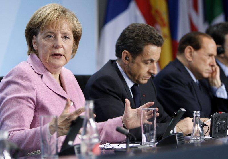 Angela Merkel, Nicolas Sarkozy, Silvio Berlusconi