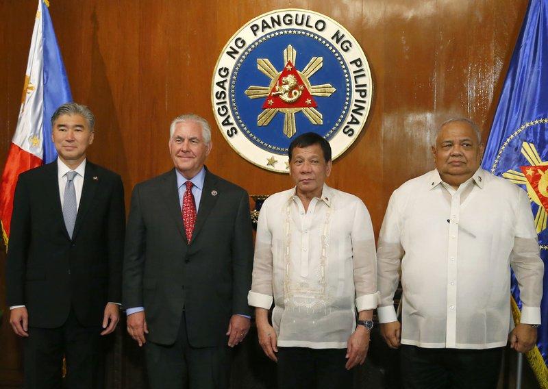 Rex Tillerson, Rodrigo Duterte, Sung Kim, Salvador Medialdea