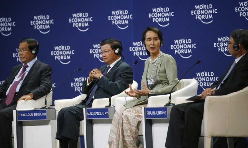 Hun Sen, Thongloun Sisoulith, Aung San Suu Kyi, Prajin Juntong