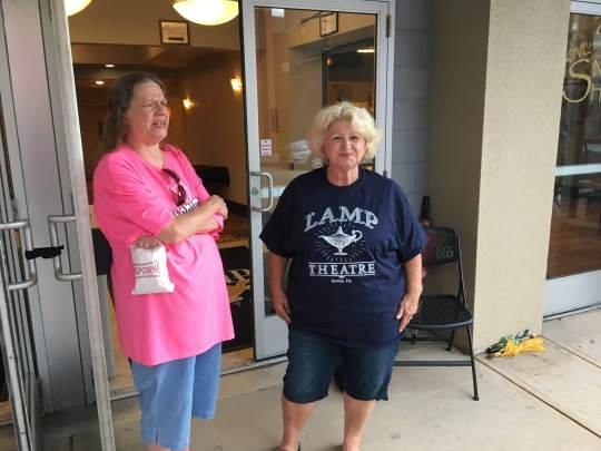 Amusement tax protest draws hearse to Lamp Theatre in Irwin