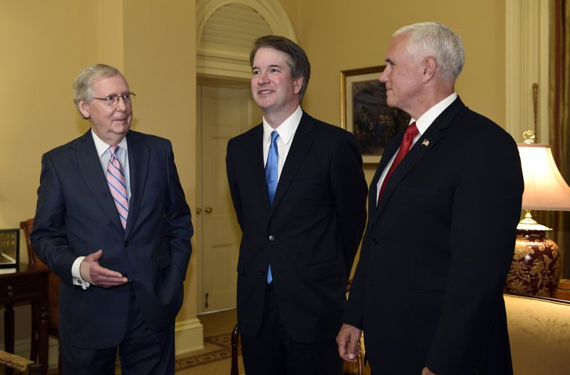 Mitch McConnell, Mike Pence, Brett Kavanaugh