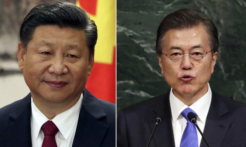 Xi Jinping, Moon Jae-in
