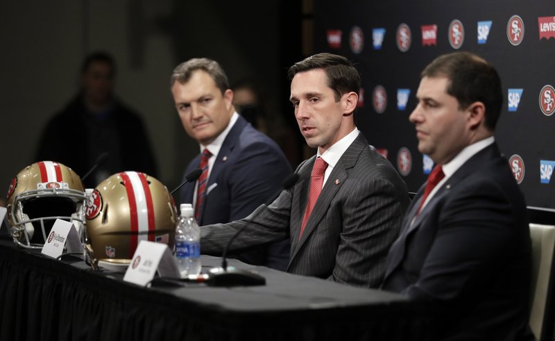 Kyle Shanahan, John Lynch, Jed York