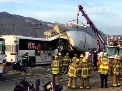 At Least 7 Dead in Tour Bus Crash in California