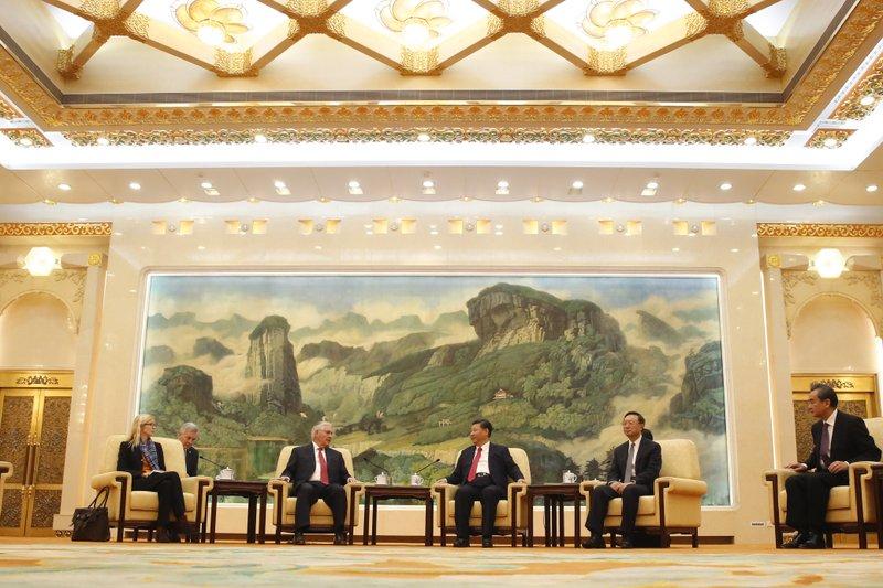 Rex Tillerson, Xi Jinping, Yang Jiechi, Wang Yi