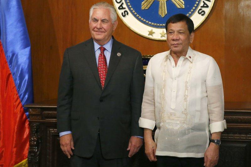 Rex Tillerson, Rodrigo Duterte