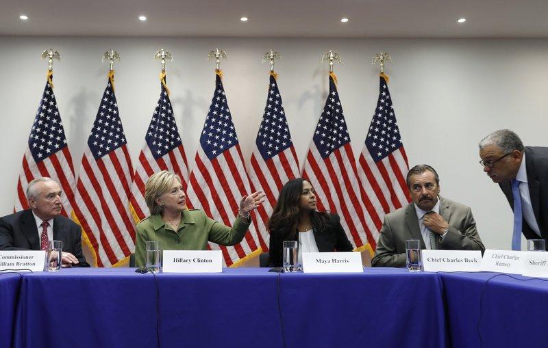Hillary Clinton, Bill Bratton, Maya Harris, Charles Beck, Charles Ramsey