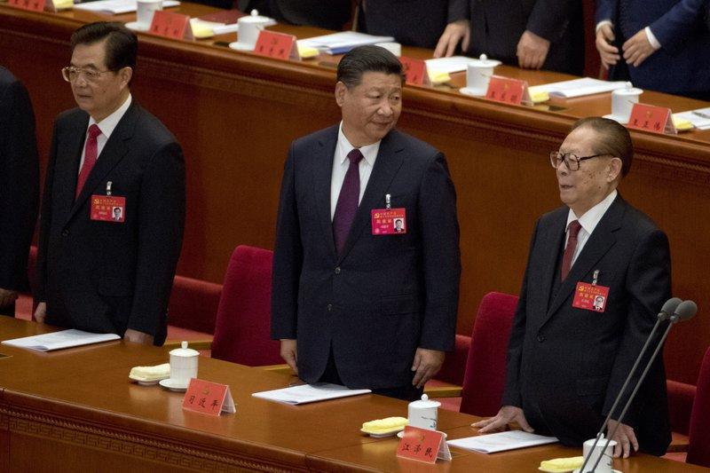 Hu Jintao, Xi Jinping, Jiang Zemin