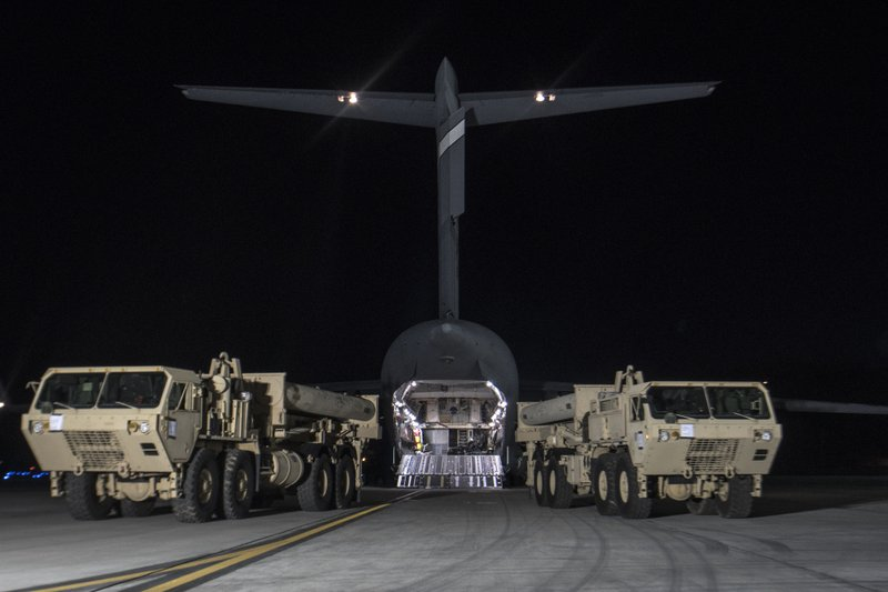 US moves controversial missile defense to South Korea