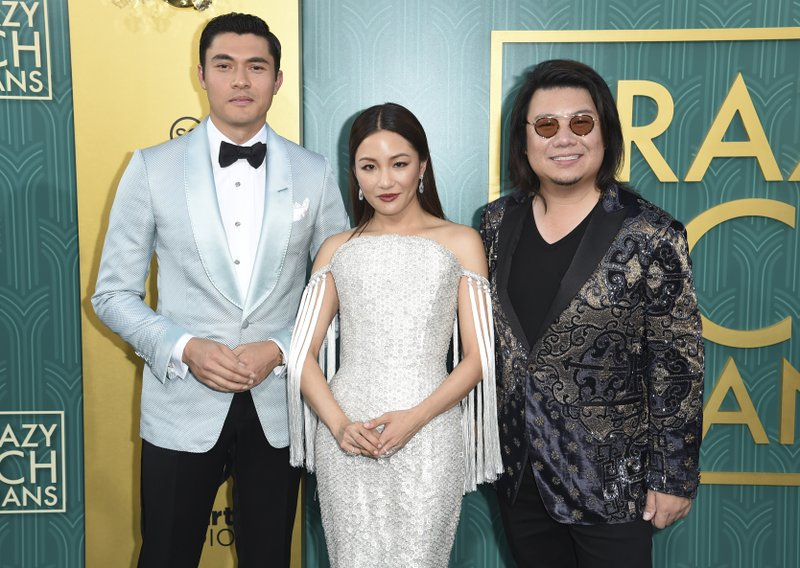 Henry Golding, Constance Wu, Kevin Kwan
