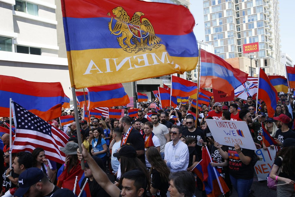 Thousands Protest Outside Turkish Consulate in Los Angeles in Support of Armenia Amid Conflict With Azerbaijan