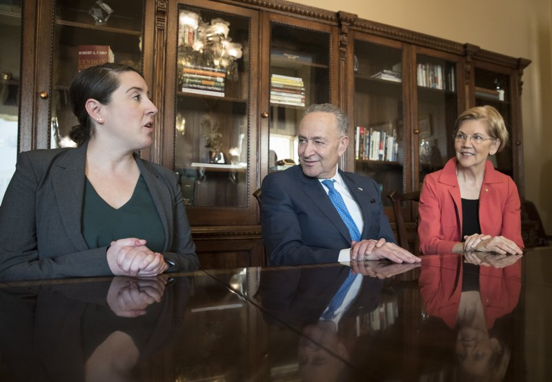 Chuck Schumer, Elizabeth Warren, Leandra English