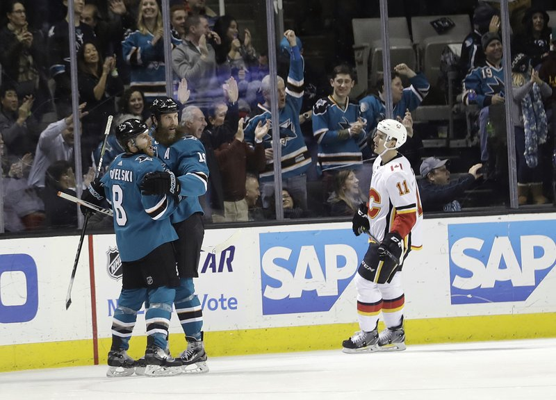 Joe Pavelski, Joe Thornton, Mikael Backlund