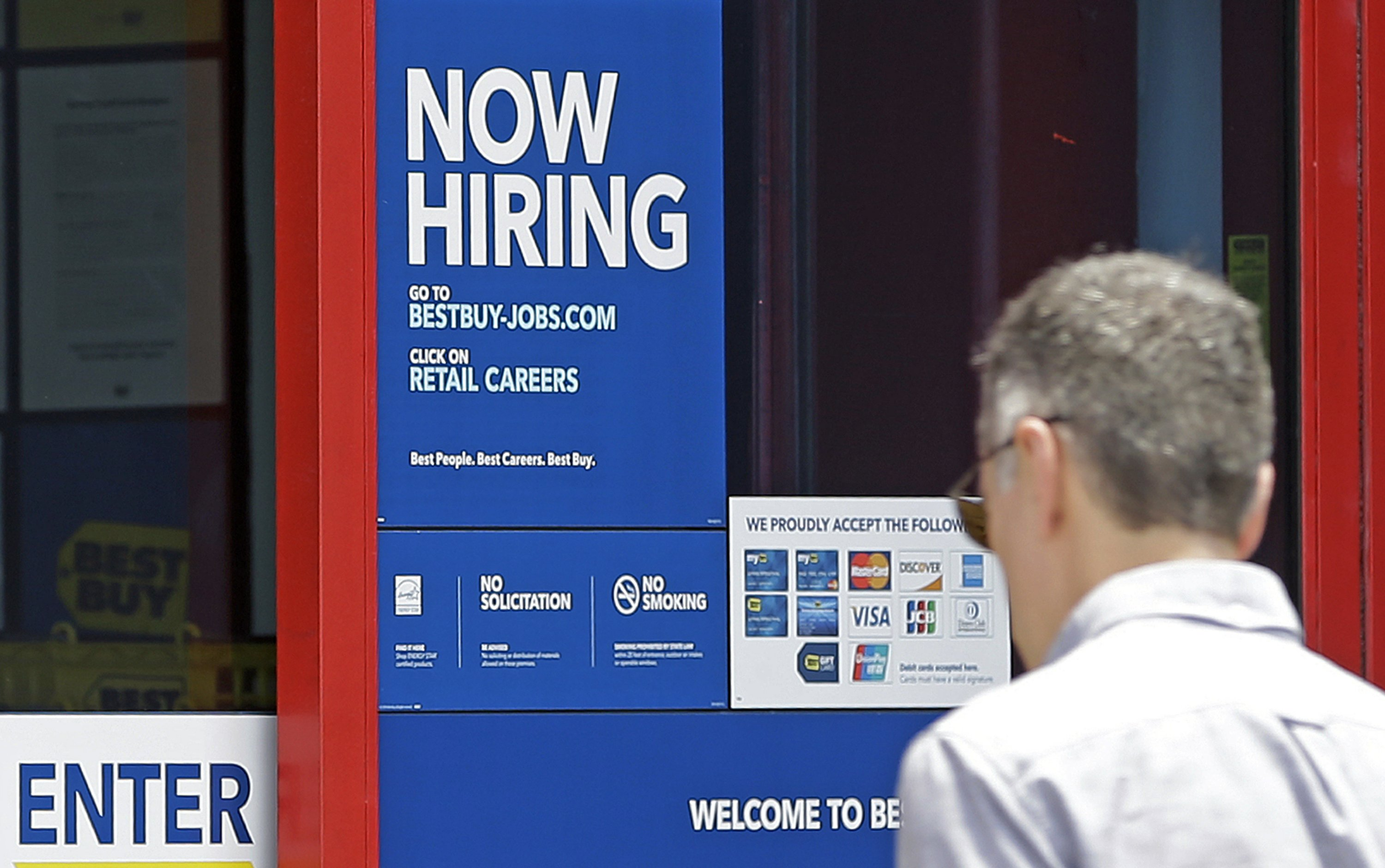Hiring surged last month in a sign of US economic vitality
